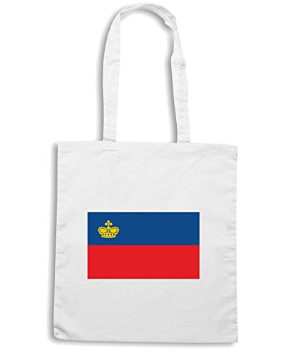T-Shirtshock - Borsa Shopping TM0209 Liechtenstein flag Bianco