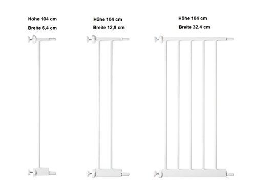 ORIGINAL-Bettacare 104 cm Verlängerung | Verbreiterung | Türschutzgitter Treppenschutzgitter Pet Gate mit Katzenklappe | Breite 6,4 cm | 12,9 cm | 32,4 cm