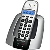 Audioline OSLO 100 schnurloses DECT Telefon SMS-Funktion beleuchtetes Display Uhr