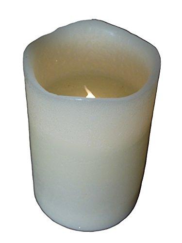 Vela–Cera LED a pilas–llama parpadeante–H 15cm x D10cm