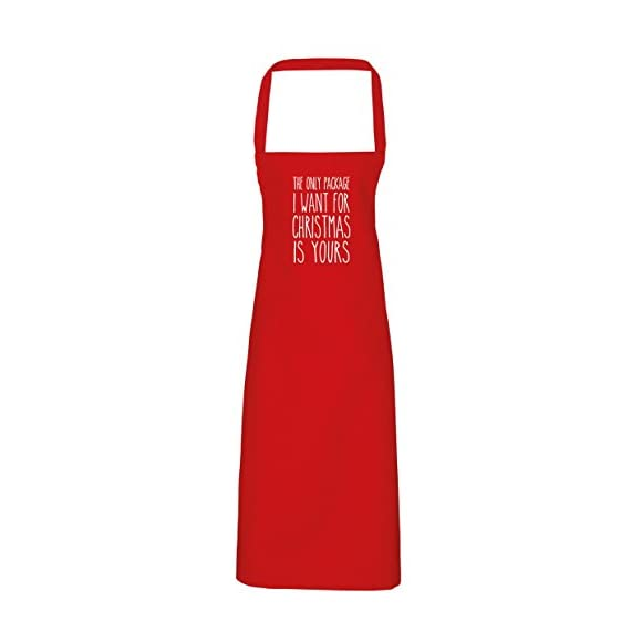 Hippowarehouse The Only Package I Want For Christmas Is Yours Apron - Various Colours