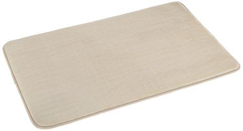 AmazonBasics - Alfombrilla de baño de espuma con memoria, 46 x 71 cm, beige