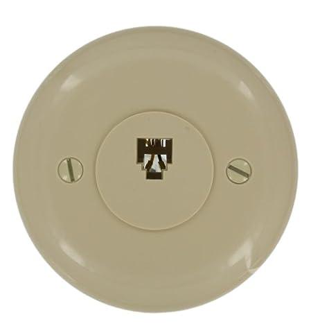 Leviton 40229-I Round Modular Jack, Ivory