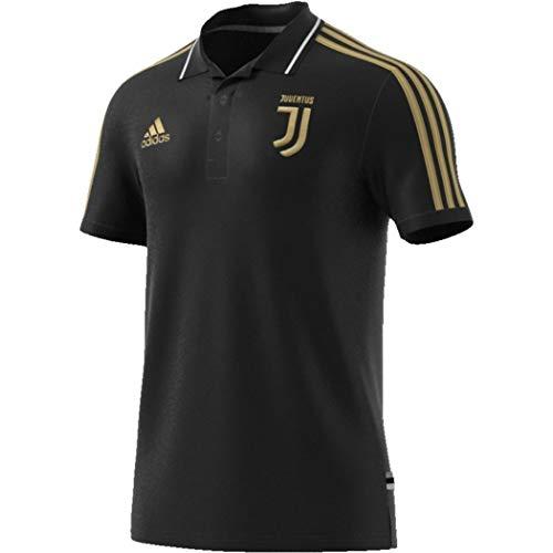 adidas Herren JUVE Polo Shirt, Black, L - Adidas Polo-shirt Gestickte