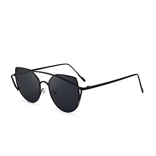 Damen Herren Retro Fashion Shades Sonnenbrille Integrierte UV-Brille Gr. Einheitsgröße, a