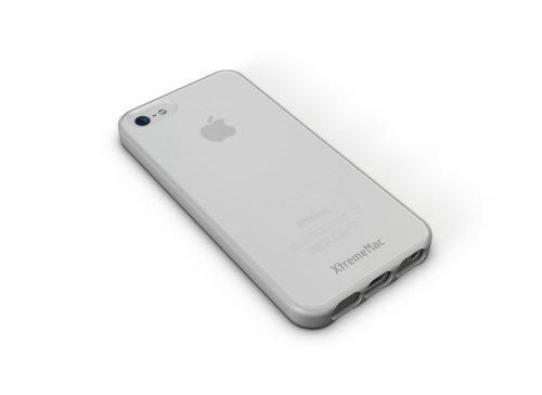 Xtrememac Microshield Accent Custodia Protettiva Con Bordo Gommato Per Apple Iphone 5/5S Accessorio Per Cellulare Smartphone, Verde/Giallo Bianco/Trasparente