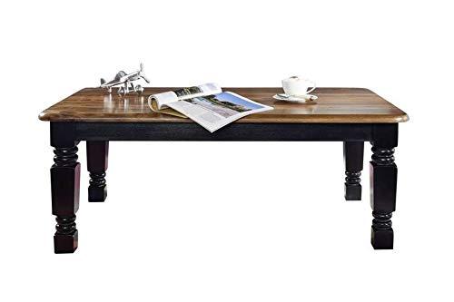 MASSIVMOEBEL24.DE Kolonialstil Sheesham massiv Holz Möbel Couchtisch 118x70 Palisander vollmassiv lackiert Massivmöbel New Boston #201