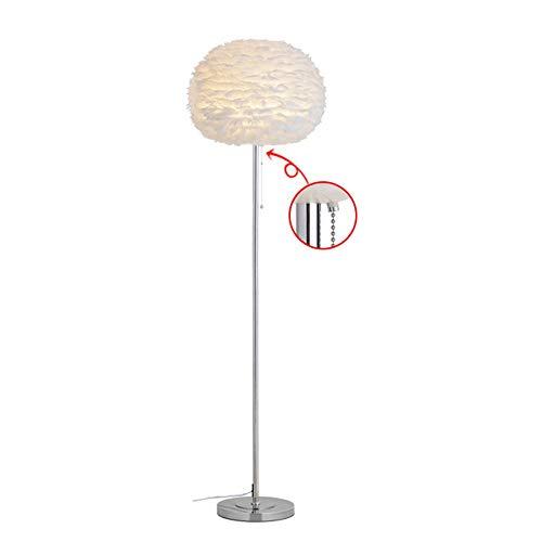 Cotangle-floor light Bedroom & Living Room LED Stehleuchte stehend Industrie Arc Licht Pull Kette hoch Pole Licht für Büro (Farbe : White-Single Leg, Größe : 45 * 45 * 150cm) -