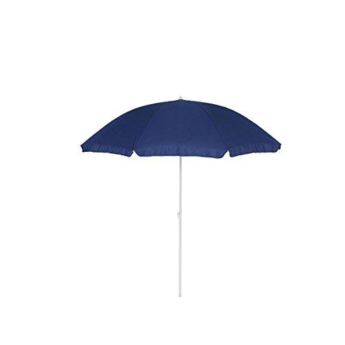 greemotion Sonnenschirm 2m mit UV-Schutz - Balkonschirm in Blau-Weiß - Gartenschirm knickbar -...
