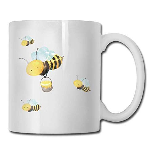 Daawqee tazze da viaggio porcelain coffee mug bee wing bumblebee ceramic cup tea brewing cups for home office