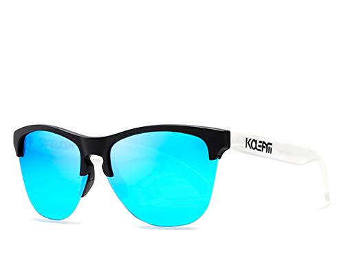 Polarisierte Sport-Sonnenbrille Männer Und Frauen Fahrräder Laufen Angeln Golf Sonnenbrille Sonnenschutz Reflektierende Schwarz,Blue