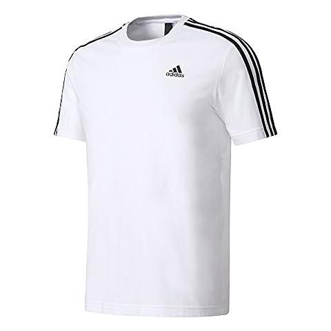 adidas ESS 3S Tee for Man, White (White), XS