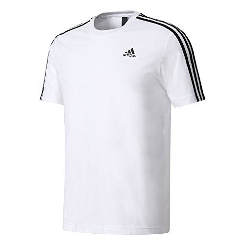 Adidas - maglietta Ess 3S Tee, uomo. bianco