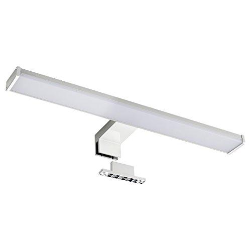 SEBSON LED Lámpara de espejo, armario con espejo lámpara, baño IP44, luz blanca neutra, 4000K, 400x 106x 40mm, 8W, 600LM