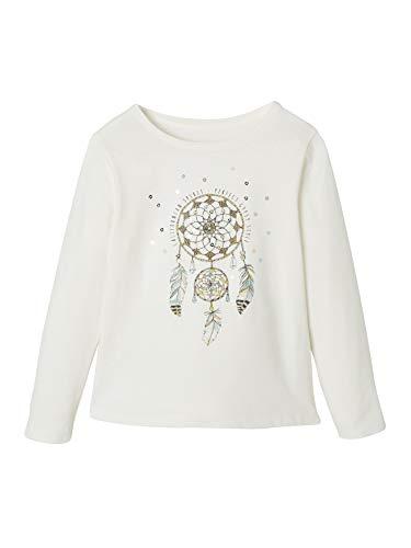 VERTBAUDET Camiseta para niña con Motivo de atrapasueños Blanco Claro Liso con Motivos 10A