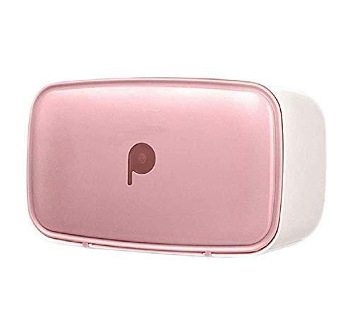Portarrollos para papel higiénico,Portarollo de baño impermeable,Sin punzón,Uñas gratis,Cuarto de baño,Tres colores -rosado