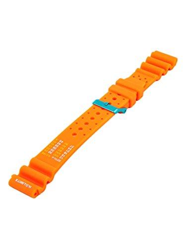 Uhrenarmband Passend Citizen Promaster Kautschuk 20-22mm Armband N.D.Limits Orange 20mm