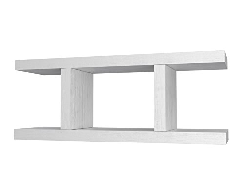 Ve.ca-italy mensola composizione armony 4 cm in legno, arredo casa, design 100% made in italy, living, camera, cucina in 10 diverse colorazioni (bianco frassinato)