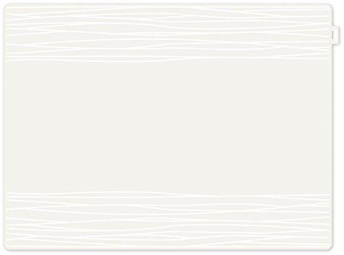 contento 655533 Jay Set de Table Motif Strip Plastique Blanc 40 x 30 x 10 cm