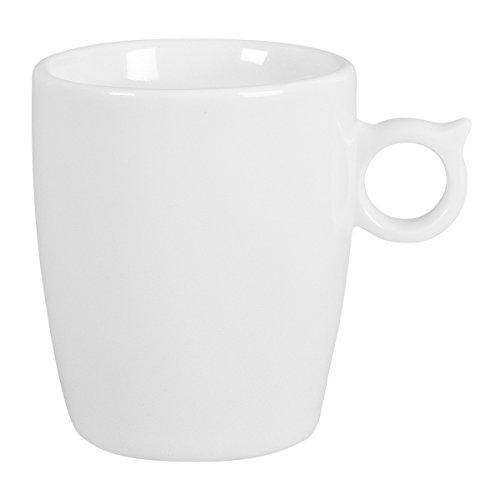 DEGRENNE - Smoos 2.0 lot de 6 mugs, porcelaine - Blanc