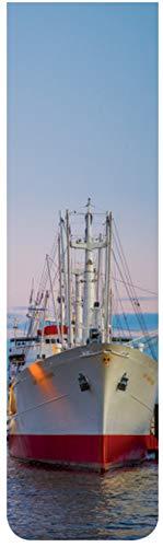 5er-Set Große Lesezeichen Magnetisch Bedruckt 10 cm x 2,5 cm mit Motiv Hamburg Schiff Cap San Diego
