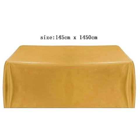 Gazechimp 145x145cm Quadratisch modern Tischdecken Tischtuch aus Satin Stoff Hochzeit Wohnzimmer Tisch Deko -