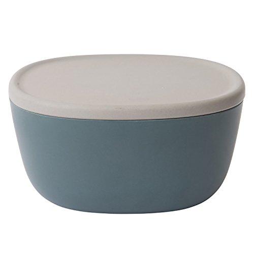 Berghoff Leo Bambus Faser Salat Servieren Schüssel mit Deckel/Tablett, Holz, Grau, 22x 11cm (Salat Schüssel Salat)