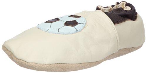 Jack and Lily Soccer, chaussures premiers pas mixte bébé Beige - Beige (Cream)