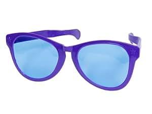 Lunette Géante De Clown VIOLET 26x16x9 cm, Pour amuser petits et grands ces lunettes géantes pour adultes seront parfaites pour compléter votre déguisement de clown ou pour amuser vos amis. Les lunettes sont en plastique. Cet accessoire est pa, choisir coleur:Jumbo violet