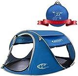ZOMAKE Tenda da Spiaggia Portatile per Bambini Esterni, 3 - 4 Persone Pop up tenda Con Protezione Solare (Blu marino)