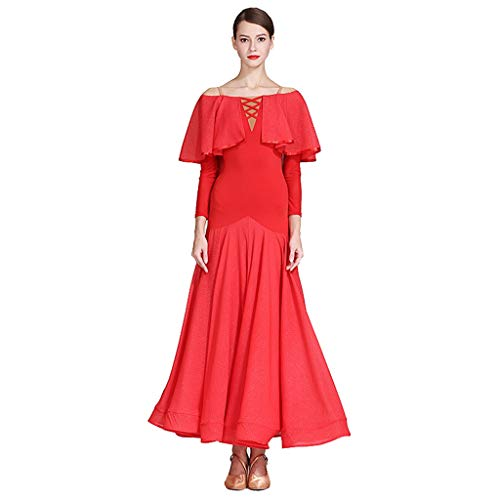 DRESSS Schmetterlingsbluse Erwachsenen Modern Dance Rock Kleid, Kostüm Gesellschaftstanz Kleidung (Farbe : Rot, größe : M) - Sexy Indian Kleidung