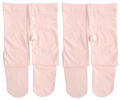 Dancina Mädchen Strumpfhose Ultra-Stretch Mikrofaser 120 DEN M (122-140) Rosé x2