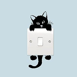 Sefon_Bwomen amazing-trading(TM) Switch Cat Wall Stickers Light Switch Decor Decals