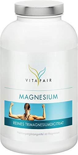 Magnesium - 456mg pro Tagesdosis - 360 Kapseln - 120% Tagesbedarf - Aus Tri-Magnesiumdicitrat - Vegan - Ohne Magnesiumstearat - Made in Germany - Liquid Calcium Magnesium