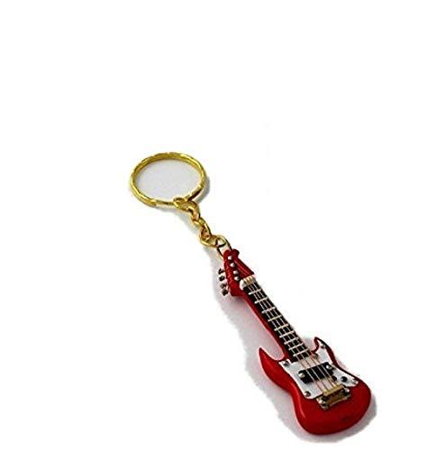 2503-4659-Llavero guitarra eléctrica miniatura roja