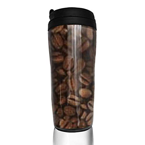 Travel Coffee Mug Coffee Beans 12 Oz Spill Proof Flip Lid Water Bottle Environmental Protection Material ABS