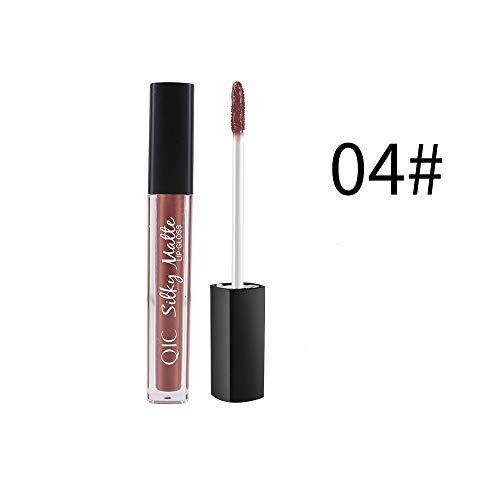 Aktionspreis,Lippenstift,PorLous 2019 Neu Beliebt Schönheit Schminke Lippenstift Brown Nude Chocolate Color Flüssiger Lippenstift Lipgloss Feuchtigkeitsspendend 4