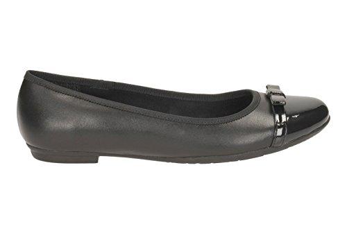 Clarks École de filles de Tizz Fizz Bootleg chaussures en cuir noir Noir