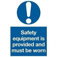 """Viking Signs Mp5341-a5p-1m matériel de sécurité""""est fourni et doit être porté"""" Sign, 1mm Semi Rigide Plastique, 200mm H x 150mm L"""