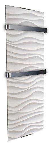 Chemin'Arte 0113 Sèche serviette décoratif ondulation 1200 W