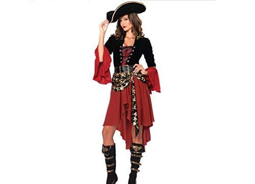 WFTD Sexy Pirate Kostüm Für Frauen Halloween Party Kleid Cosplay Kostüm Weihnachten Halloween Kostüm Laterne Bühne Tragen EIN Kostüm Kleid
