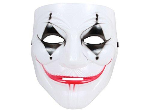 Alsino Purge Maske Halloween Killer Masken Fasching Kostüm Damen Herren Helloween Kiss Kostum Erwachsene (Mas-39)