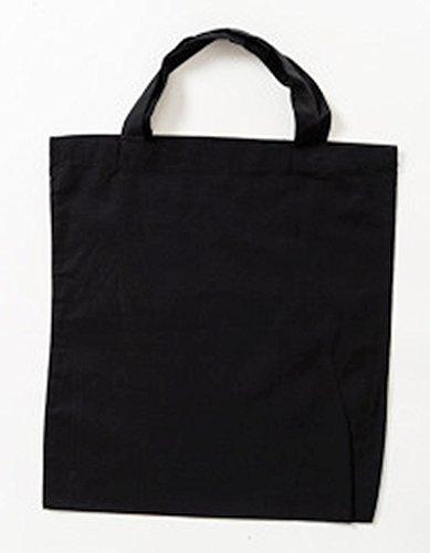 Jutebeutel kurze Henkel Farbe schwarz (Schwarzen Kurzen Baumwolle)
