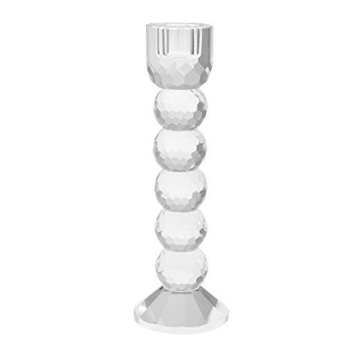 KESOTO Elegante Kristall Kerzenhalter Kerzenständer Säulen Halter Kerzen Dekoration - klar, M -