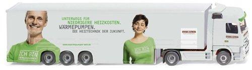 """Preisvergleich Produktbild 052904 - Wiking - Großraumauflieger """"Stiebel Eltron"""" (MB Actros)"""