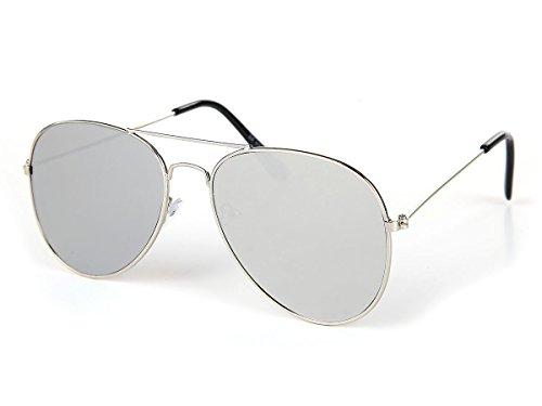 Alsino Sonnenbrille flache Gläser Flat Lens Pilotenbrille V-1292-4