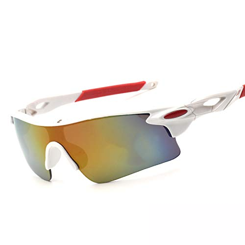 xinrongqu Sonnenbrillen - Driver Night Vision Mirrors Mirrors Sonnenbrillen Reitbrillen White Frame Red Legs Red Film