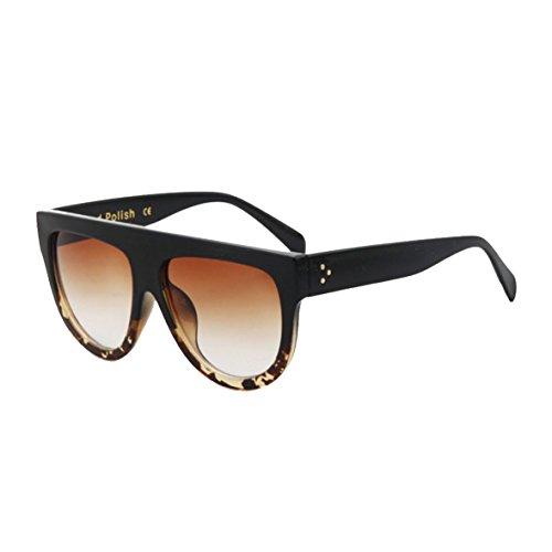 New-Energy-Gafas-de-sol-color-negro-montura-grande-de-caparazn-de-tortuga-estilo-de-Kim-Kardashian-incluye-estuche