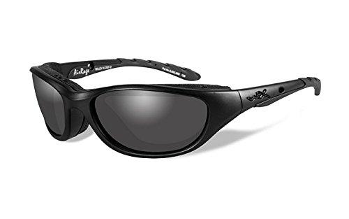 Wiley X Schutzbrille Unisex Airrage Sonnenbrille, Unisex, Airrage, Matte Black, S/M