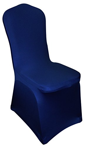 STANDARD ROYAL BLUE SPANDEX LYCRA BANQUET CHAIR COVERS, WEDDINGS/OCCASIONS 1 4 6 10 20 30 40 50 70 100 150 200 (50)